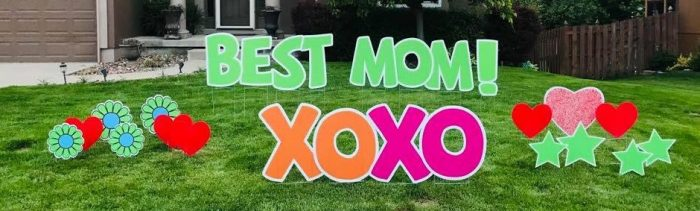 mothers day yard display