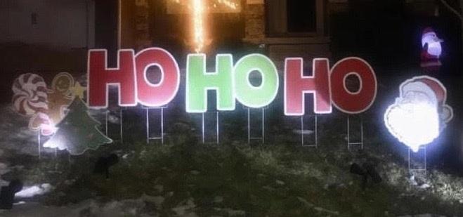 christmas yard display